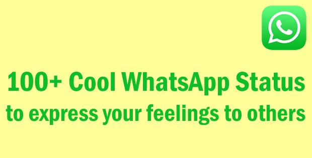 Cool Whatsapp Status In English Sweet Tech